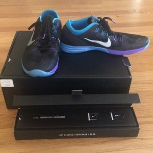 Nike plus training shoe with sport pack, size 9